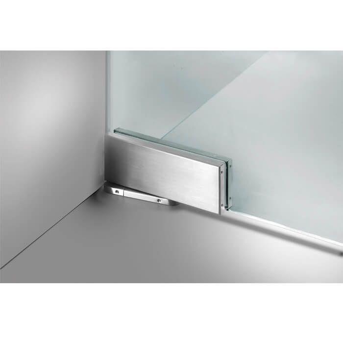 Zwarte taatsdeur op maat van helder glas