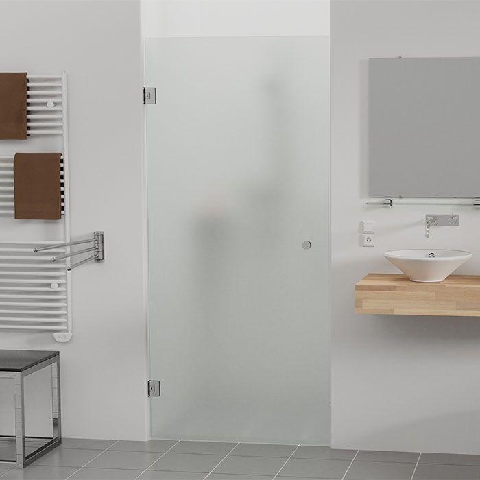 Douchedeur op maat met matglas