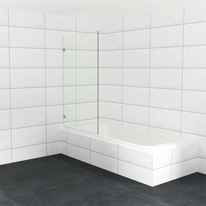 Luxe badwand op maat van helder glas