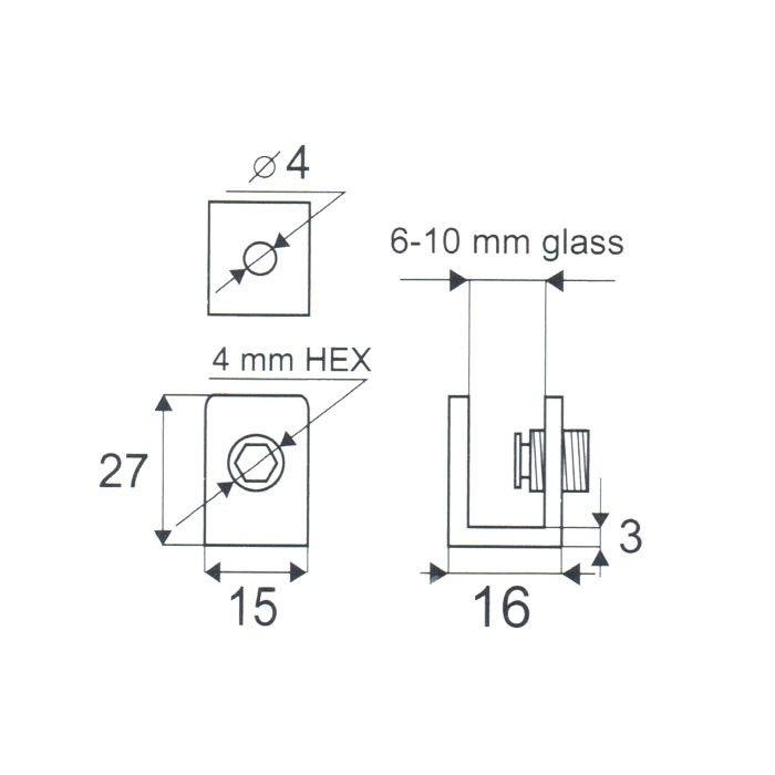 Glasplaatdrager Lungo