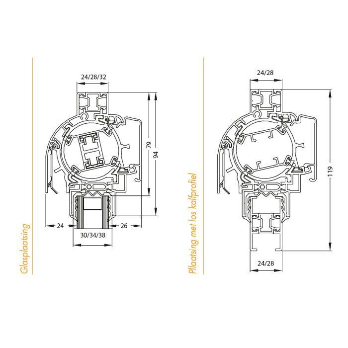 Ventilatierooster Renson Junior 150 (Design)