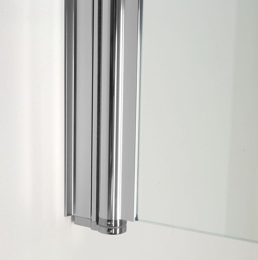 Badwand op maat met scharnierprofiel