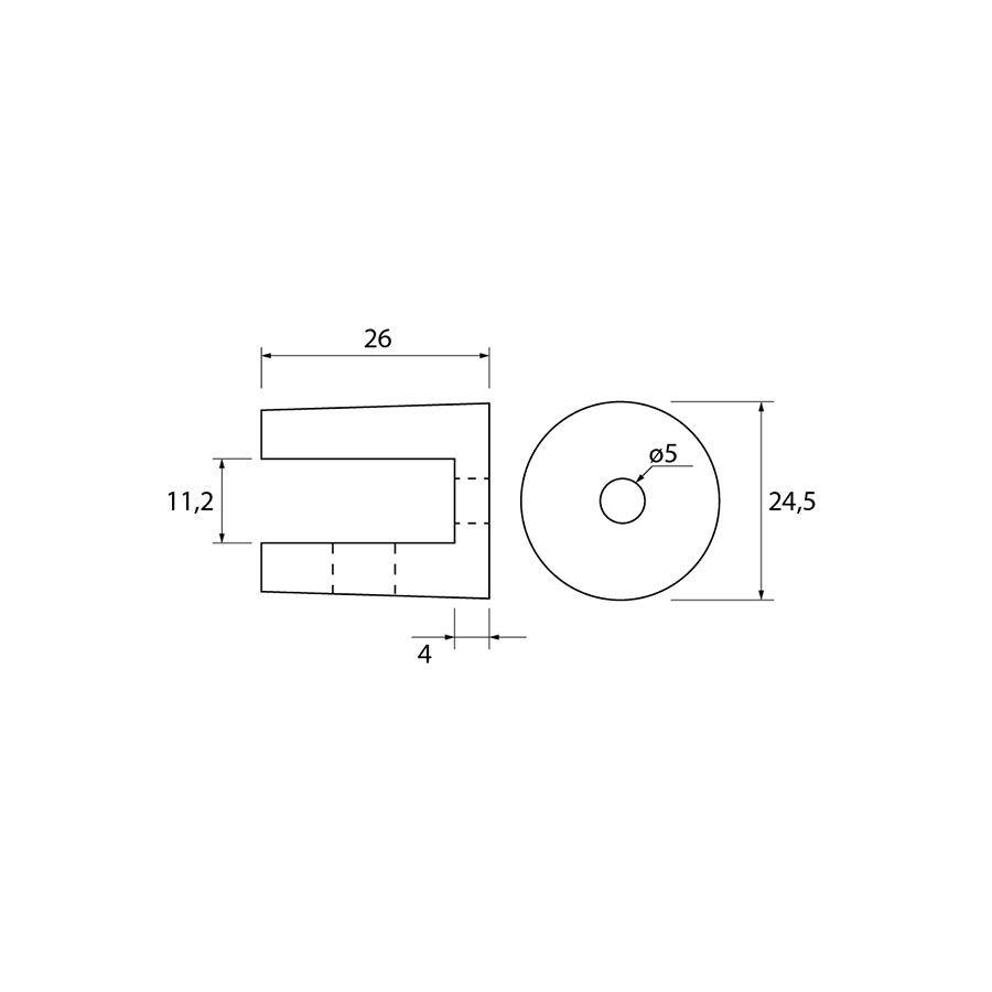 Glasplaatdrager GPD52