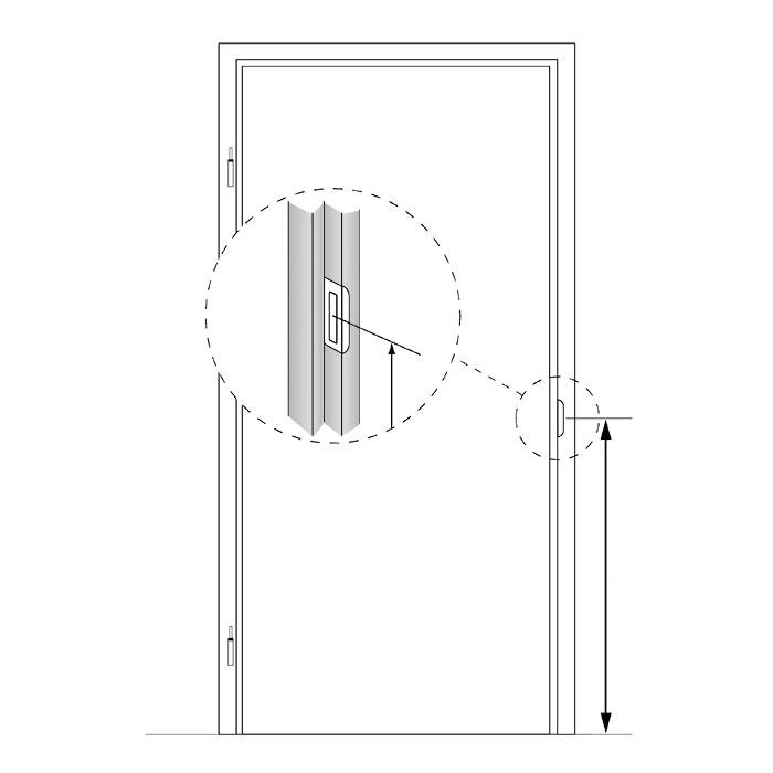 Stompe glazen deur van matglas