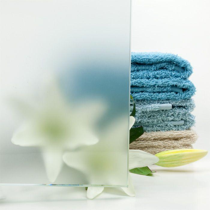 Luxe douchewand op maat met matglas