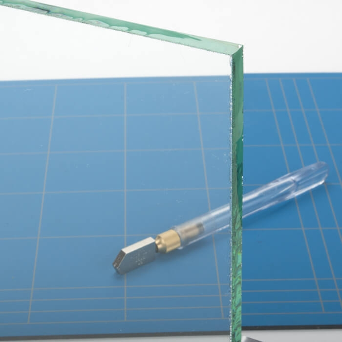 Opdekdeur XL van helder glas
