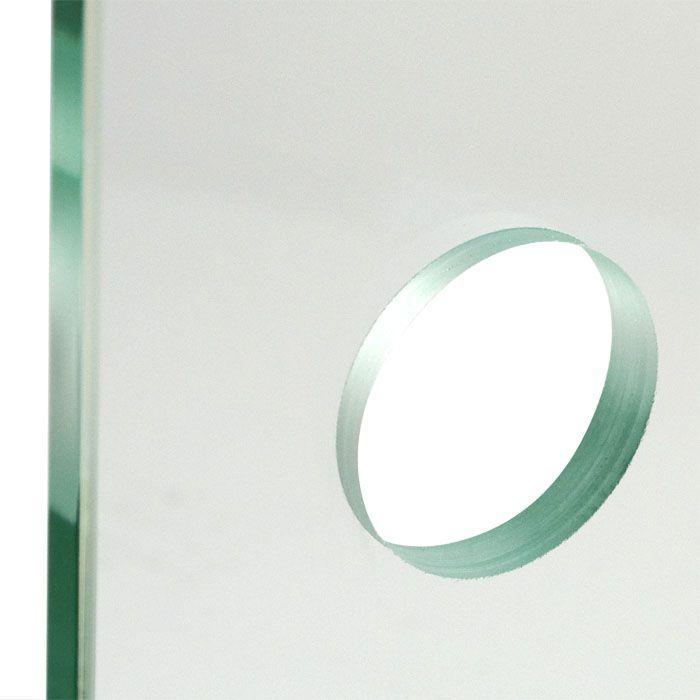 Schuifdeur met open rails van crepi glas