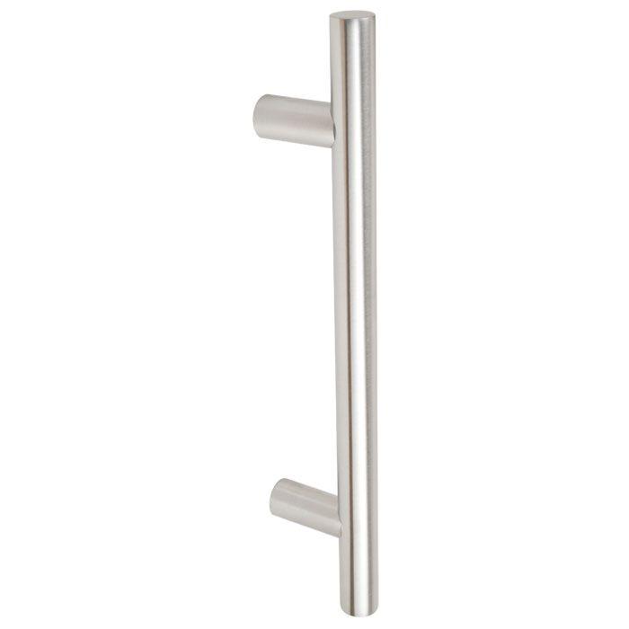 Schuifdeur van helder glas met gesloten rails