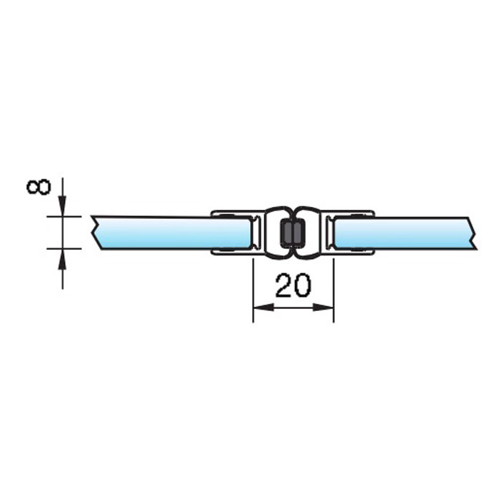 Zwarte magneetstrip in lijn dubbelzijdig