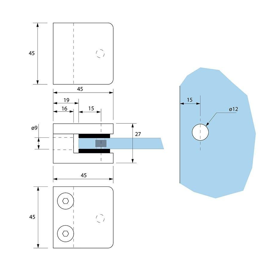 Glasklem CV-35