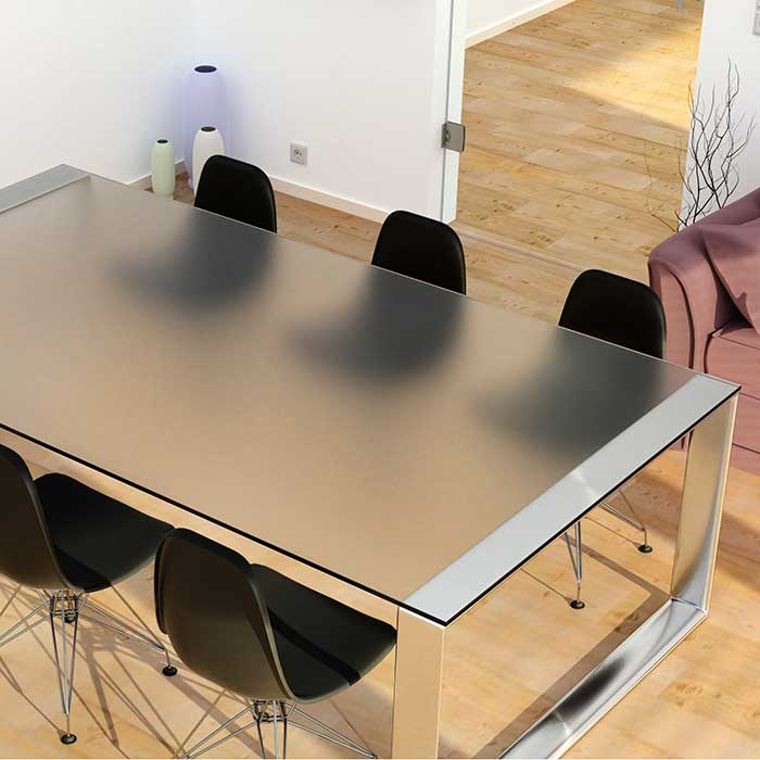 Mat glazen tafelblad
