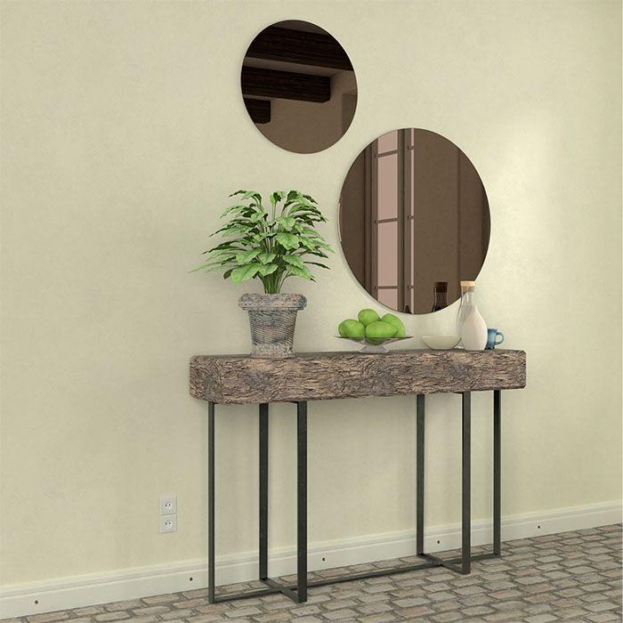 Ronde spiegel brons