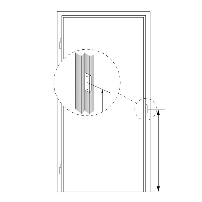 Stompe glazen deur XL van master-carre glas