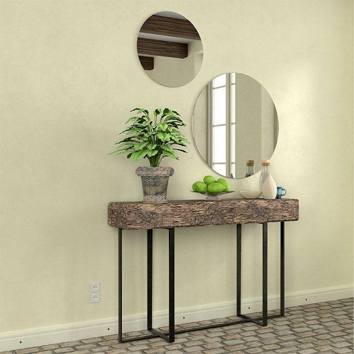 Ronde spiegel zilver (standaard)