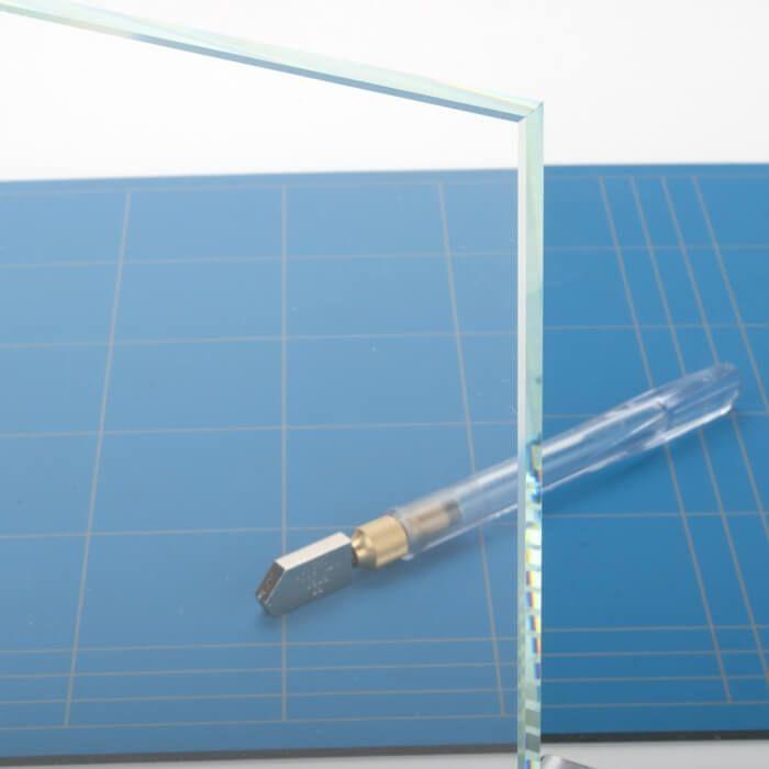 Extra helder glazen tafelblad