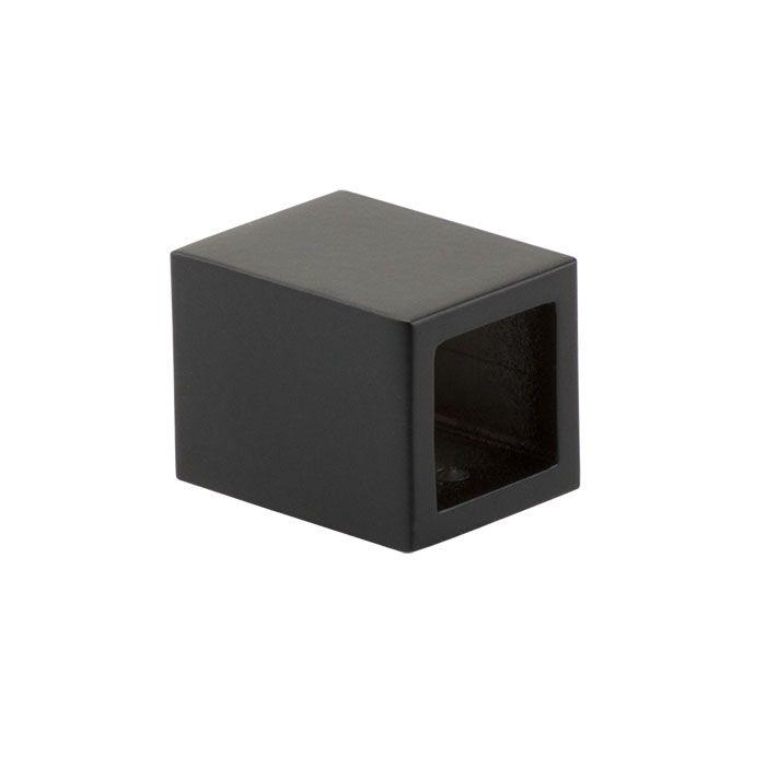 Luxe zwarte douchewand op maat van helder glas