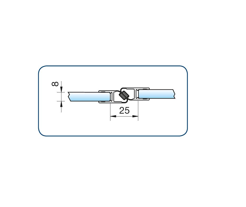 Zwarte magneetstrip in lijn enkelzijdig