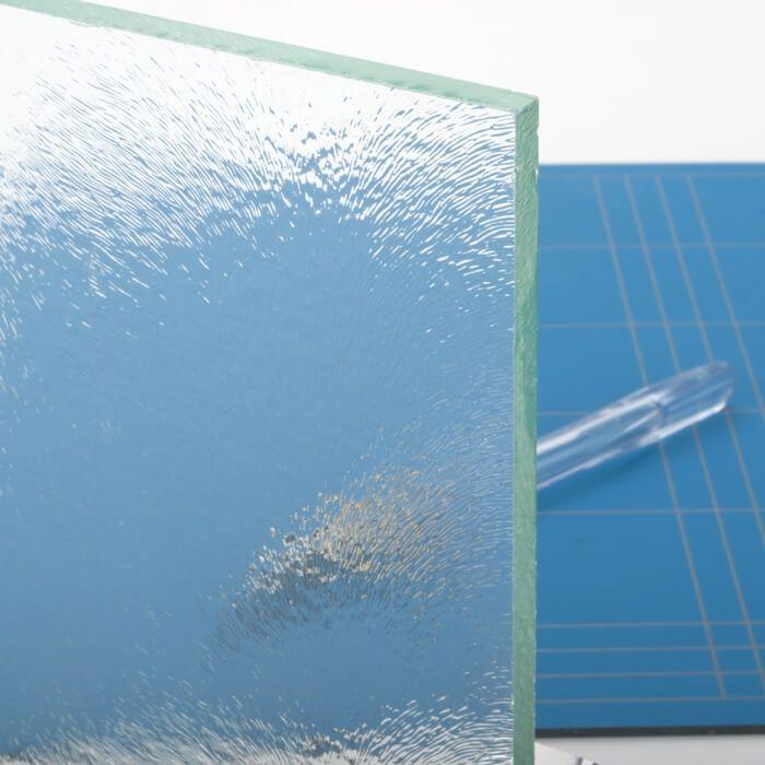 Stompe glazen deur van chinchilla glas