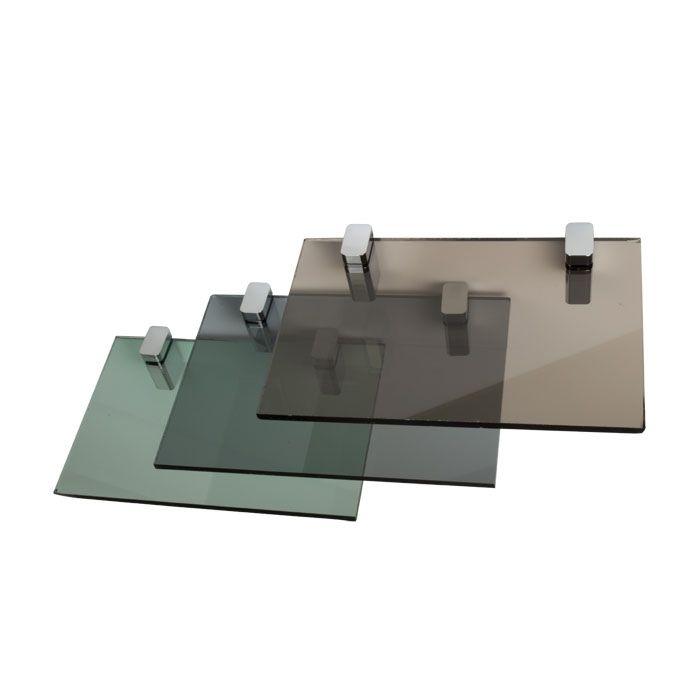 Gekleurd glazen tafelblad