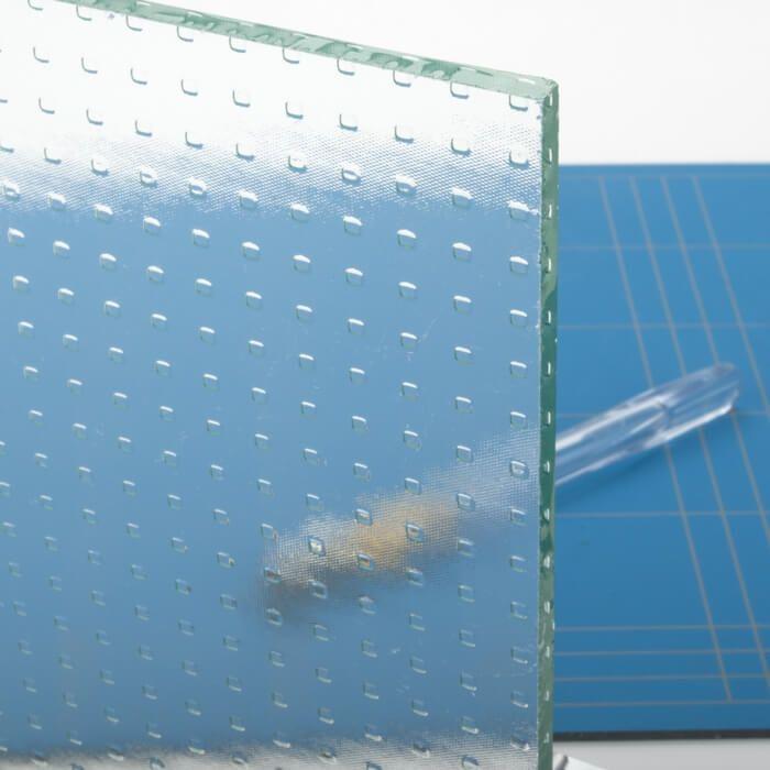 Stompe glazen deur van master-carre glas
